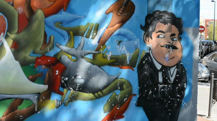 Mural colorido de Javier Budillo