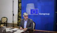 Mario Centeno, Presidente del Eurogrupo, durante la primera reunión