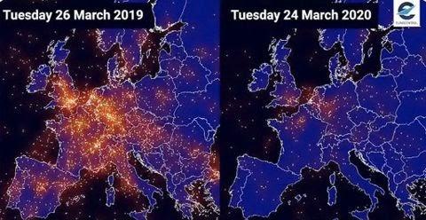 Comparativa de tráfico aéreo 2019-2020