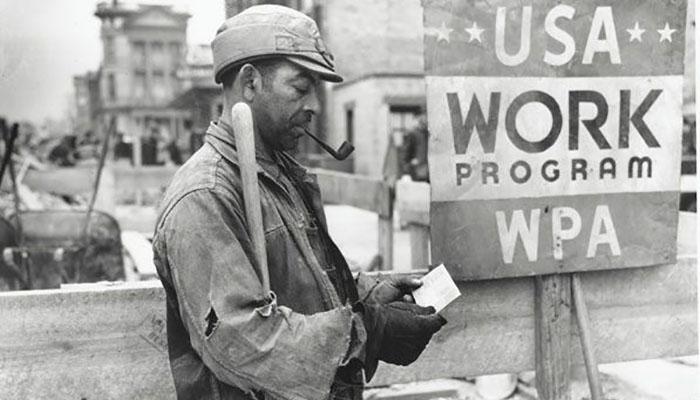 Trabajador cartel pipa