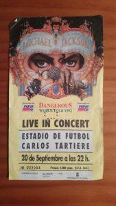 Concierto de Michael Jakson en Oviedo. Septiembre de 1992.