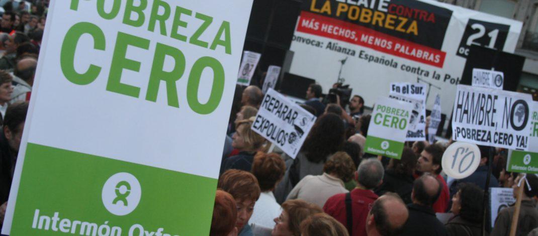 Manifestación contra la pobreza en Madrid
