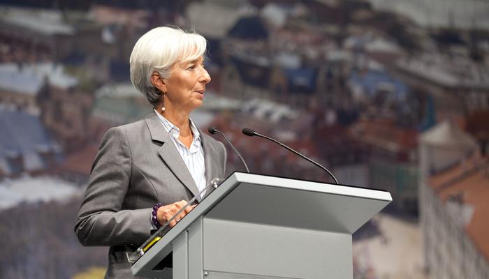 Christine Lagarde, presidenta del Banco Central Europeo, en una comparecencia.