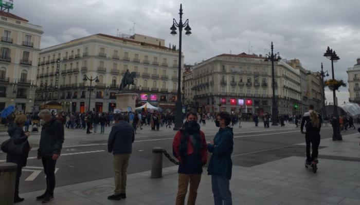 Puerta del Sol abarrotada en el fin de semana