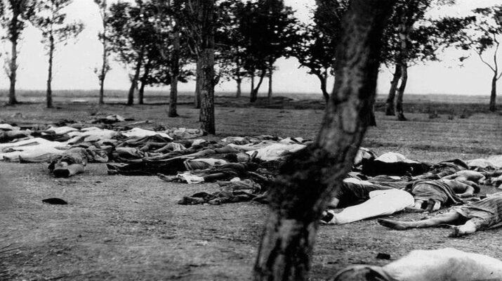 Conjunto de cuerpos de refugiados armenios