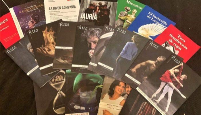 Folletos de diferentes obras de ópera y zarzuela